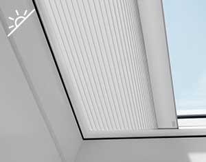 Cortina de oscurecimiento VELUX para ventana de cubierta plana